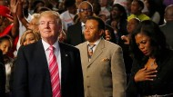 Vor Afroamerikanern schlägt Trump sanfte Töne an