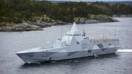Die schwedische Marine auf der Suche nach fremden U-Booten.