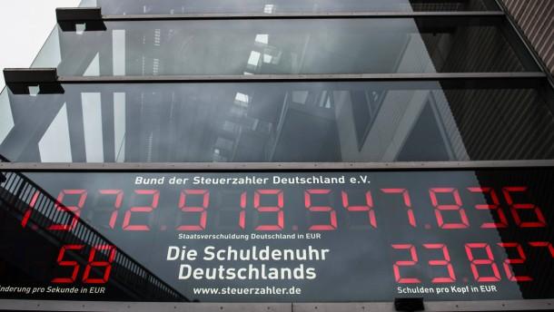 Deutscher Staat hat 53 Milliarden Euro weniger Schulden