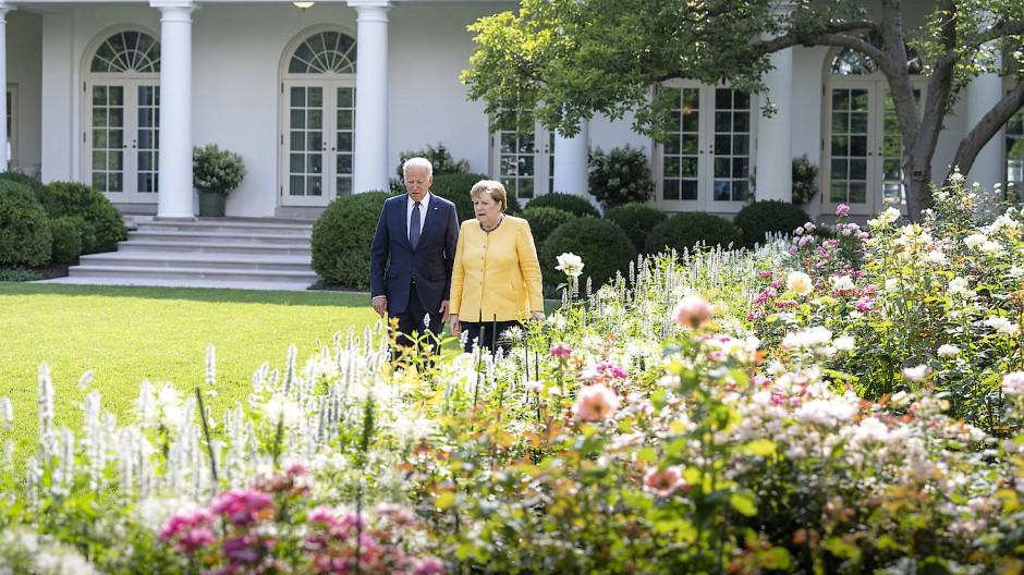 Angela Merkel zu Besuch bei Joe Biden in Washington