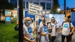 Flashmob vor dem Hessischen Rundfunk