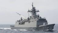 Bild einer südkoreanischen Marineübung im Juli 2017 im japanischen Meer