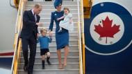 William und Kate auf Familienausflug in Kanada