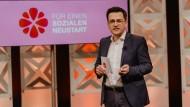 Thomas Kutschaty spricht am Samstag auf dem digitalen Parteitag der nordrhein-westfälischen SPD.