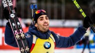 Die Konkurrenz staunt schon nicht mehr, sie verbeugt sich nur noch: Martin Fourcade aus Frankreich