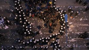 Polizei verteidigt Einsatz gegen Blockupy