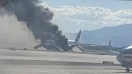 Boeing 777 fängt unmittelbar vor Start Feuer