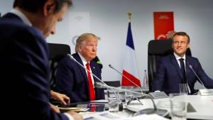 Trump: Macron hat Zarifs Besuch mit mir abgesprochen