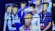 Gesichtserkennungstechnologie auf einer Messe in China im Jahr 2017