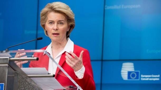 Von der Leyen kündigt europäischen Plan für Kurzarbeitergeld an