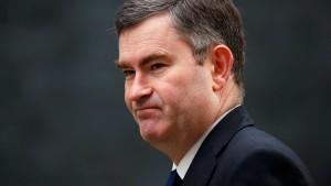 Britischer Justizminister kündigt Rücktritt an