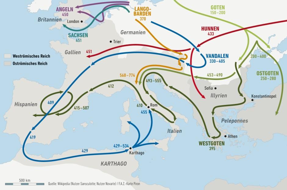 völkerwanderung karte Bilderstrecke zu: Die Völkerwanderung: Ein Begriff macht Karriere