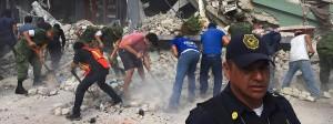 Eingestürztes Gebäude in Mexiko