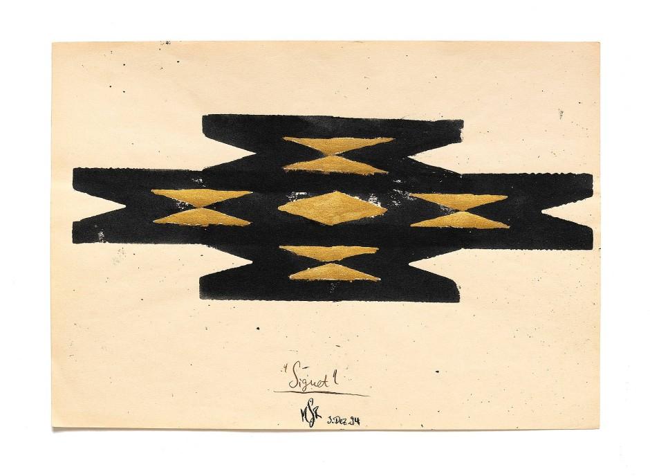 """Am Anfang war das """"M"""": """"Signet"""" von Michael Riedel, 1994"""