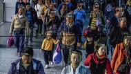 Normierte Moral als Marktmotor, hier per Gesichtserkennung in Peking: Viele Chinesen erhoffen sich von totaler staatlicher Sozialkontrolle einen Gewinn an Lebensqualität