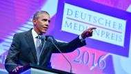 Obama erhält den Deutschen Medienpreis