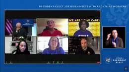 Biden kämpft bei Videokonferenz mit den Tränen
