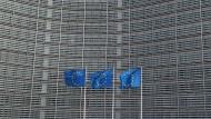 EU-Fahnen wehen in Brüssel