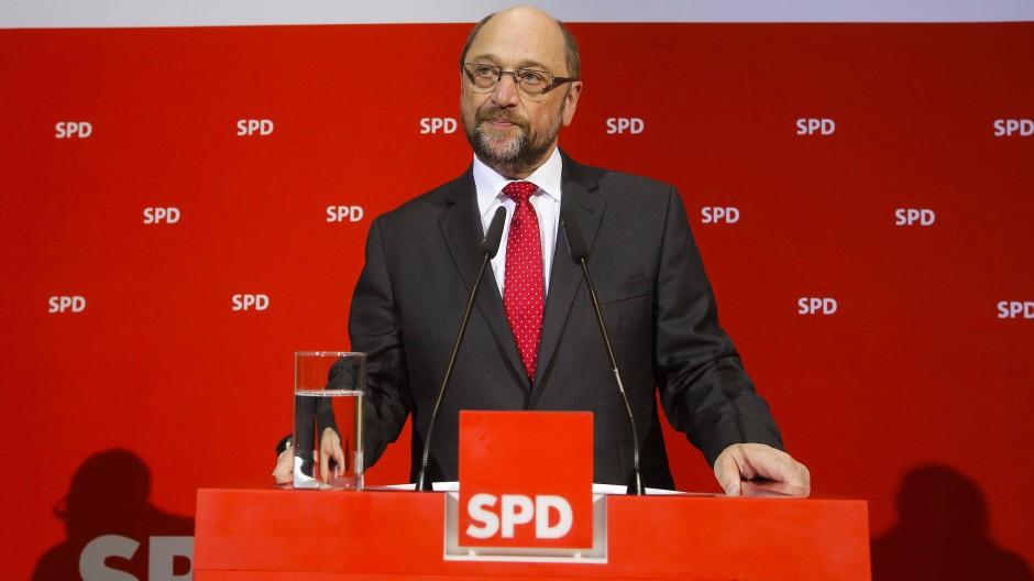 Martin Schulz am Sonntag in Berlin: Der Schulz-Effekt hat im Saarland nicht ausgereicht, um die CDU zu überholen.
