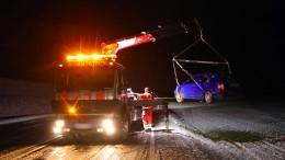 Zahlreiche Unfälle wegen Glatteis
