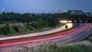 Autobahn A5 bei Frankfurt