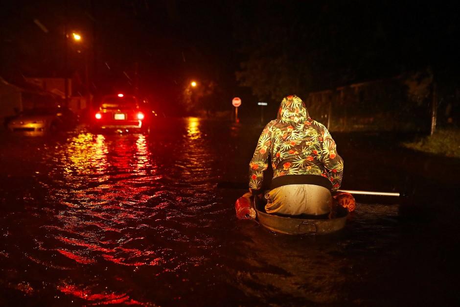 Heftiger Regen und Überschwemmungen in North Carolina: Insgesamt fünf Bundesstaaten haben den Notstand ausgerufen.