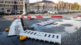 Sturmflut an der nordfriesischen Küste