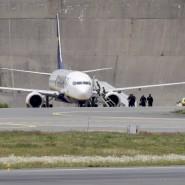 In dem Ryanair-Flieger wurde am Freitag ein Zettel mit einer Bombendrohung entdeckt. Am Samstag wurde ein ähnlicher Zettel in einem norwegischen Zug gefunden.