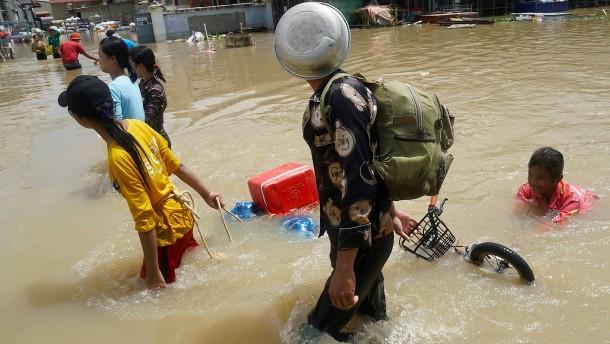 Schwere Regenfälle in Kambodscha