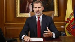 König Felipe kritisiert katalanische Regionalregierung