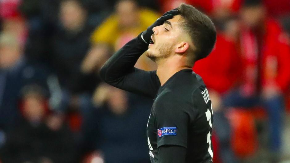 Zwölf Pflichtspiele, drei Tore – auch bei André Silva läuft es nicht rund.