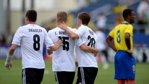 Deutsche B-Elf spielt 1A-Fußball