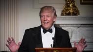 Donald Trump bei einem festlichen Auftritt im Weißen Haus vergangenen Samstag,