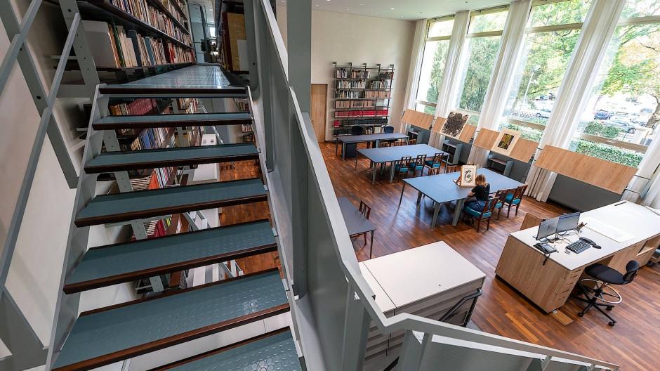 Wo künftig wieder eine intime Kunstbetrachtung stattfinden kann: Der neue Studiensaal der Graphischen Sammlung mit hängender Galerie