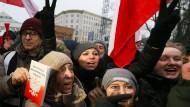 Heftige Proteste: Das geplante Mediengesetz hat in Warschau zu einer Blockade des Parlaments geführt.