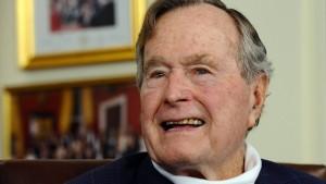 George Bush senior vor Weihnachten in Klinik