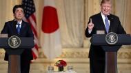 Trump trifft sich mit Japan für Handelsabkommen
