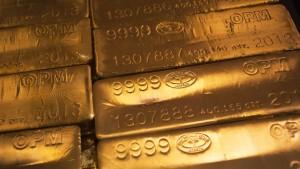 In Euro ist der Goldpreis nur noch dreistellig