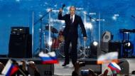 Alternativlos: Putin macht Wahlkampf in Sewastopol.