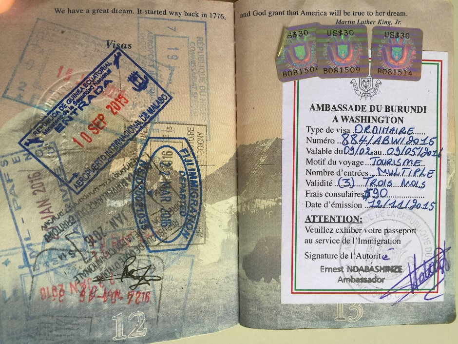 So sieht der Reisepass eines Rekordhalters aus