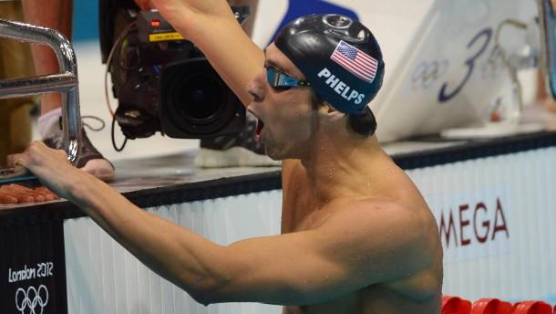 Rekord für Phelps - keine deutsche Medaille