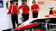"""""""Jules soll dabei sein"""": Marussia hat zur symbolischen Unterstützung des verunglückten Bianchi einen Boliden aufgebaut"""