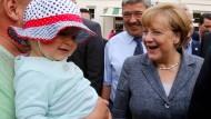 Merkel wirbt um Wählergunst in Mecklenburg-Vorpommern