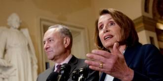 Verkündeten einen Kompromiss, der viele Trump-Anhänger aufschrecken dürfte: Nancy Pelosi, Vorsitzende der demokratischen Fraktion im Kongress, und Chuck Schumer, Vorsitzender der demokratischen Fraktion im Senat