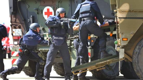 Übung mit Bundeswehr