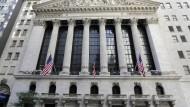 Die New York Stock Exchange in New York. Trotz traumhafter Zahlen sorgen sich die Anleger wegen des Handelskonflikts mit China.