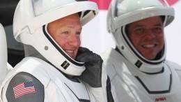 SpaceX-Astronauten auf dem Rückweg zur Erde