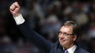 Klarer Sieger: Vucic gewinnt Serbiens Präsidentenwahl