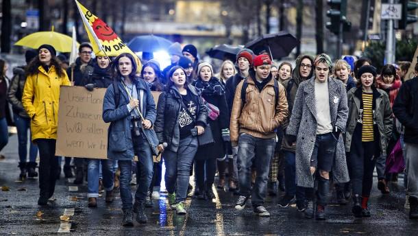 ab5cb935889ea5 Frankfurter Schüler demonstrieren für den Klimaschutz