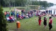 """""""Es bewegt sich etwas in Brüssow"""": Feuershow beim Stadtfest"""